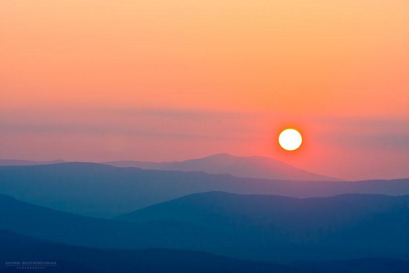Закат с горы Ильменского заповедника