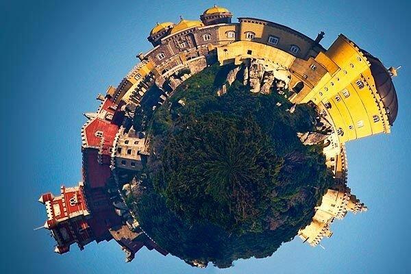 Здания на сферической панораме
