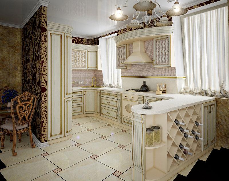 кухня с белой мебелью визуально увеличивает пространство