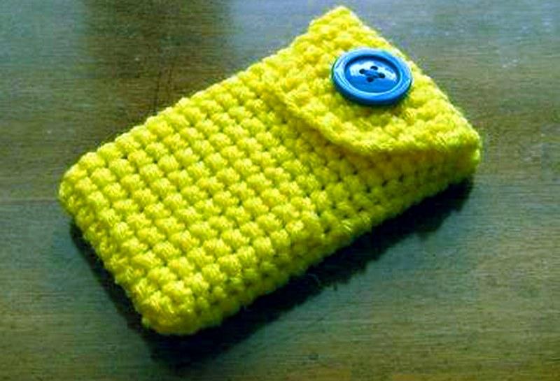 желтый чехол с голубой пуговицей карточка пользователя