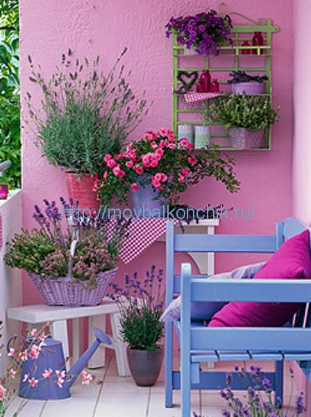 Цвет стен на балконе фото.