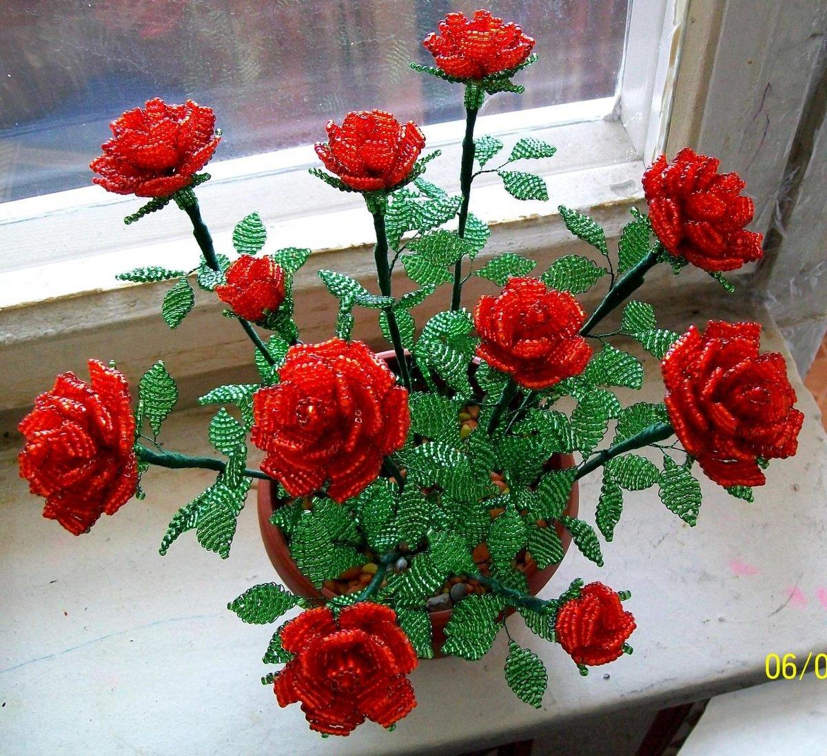 один случаев, бисероплетение розы мастер класс с пошаговым фото пары