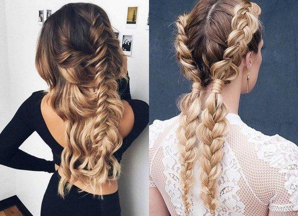 Прически на средние волосы с плетением красивые
