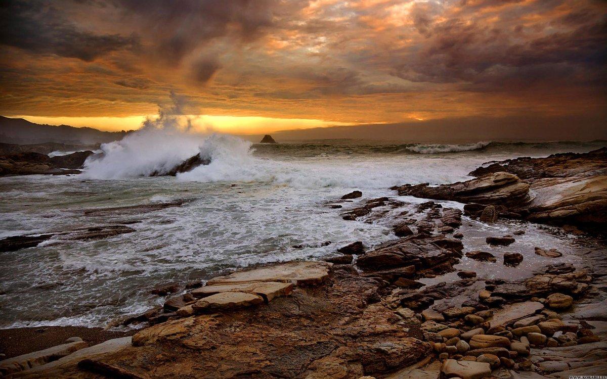 фото море волны солнце бушующее море