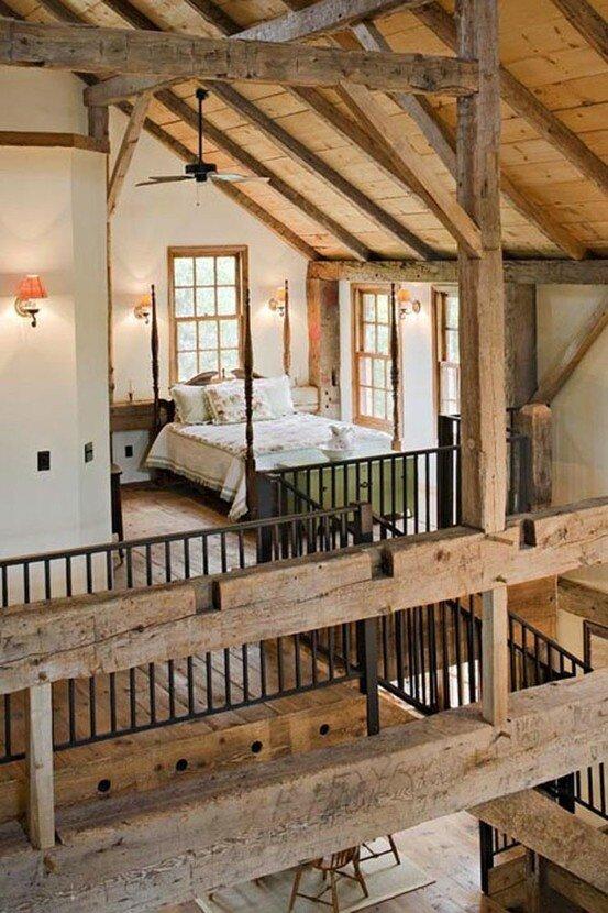 дизайн  спальни в деревенском стиле фото 15