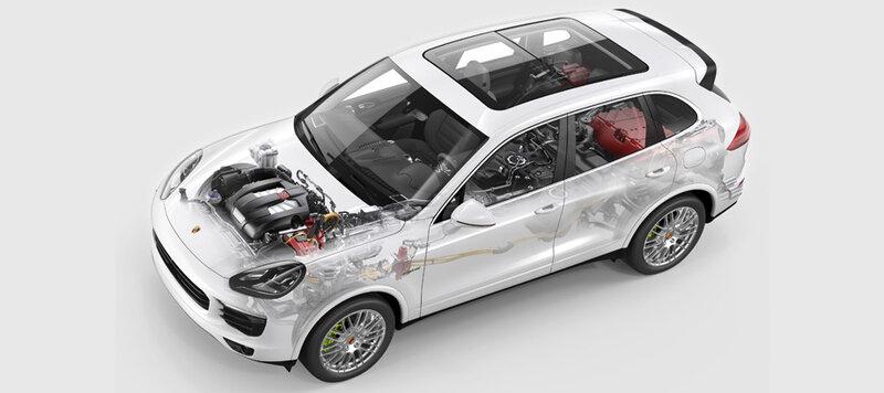 В семье кроссовера Porsche Cayenne запланирован электрокар