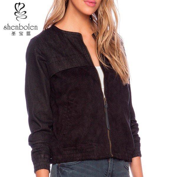 2015 дамы модные передняя молния мыть американский бомбардировщик куртка оптовая продажа-изображение-Пальто и пуховики-ID продукта:60100835189-russian.alibaba.com