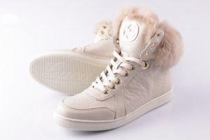 Ботинки женские GUCCI артикул GSI-003 | Цена 8100 | Материал: натуральная кожа | Цвет : Белый