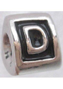 буква D -шарм для браслета пандора