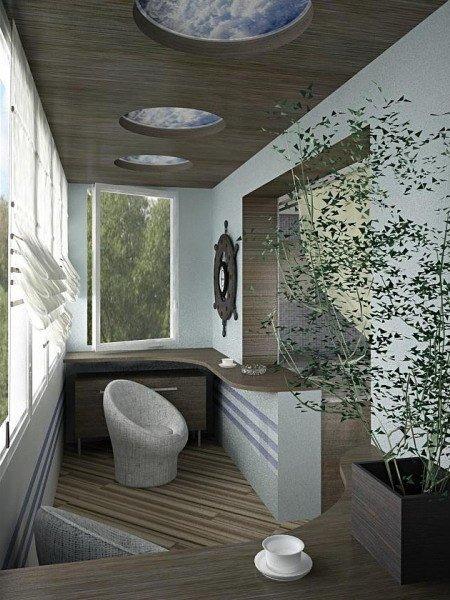 дизайн шторы для балкона