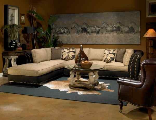 Интерьер гостиной в африканском стиле фото