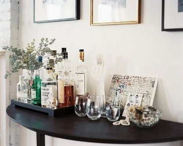 домашний бар для напитков винтерьере