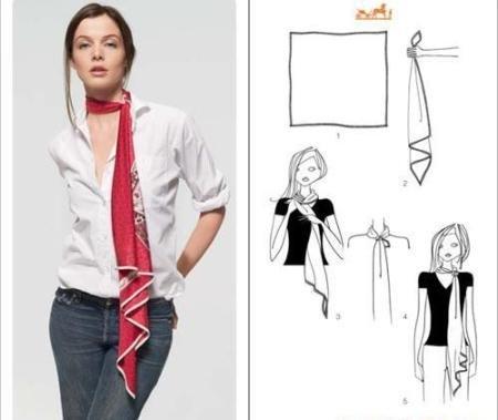 Как повязать платок на шее