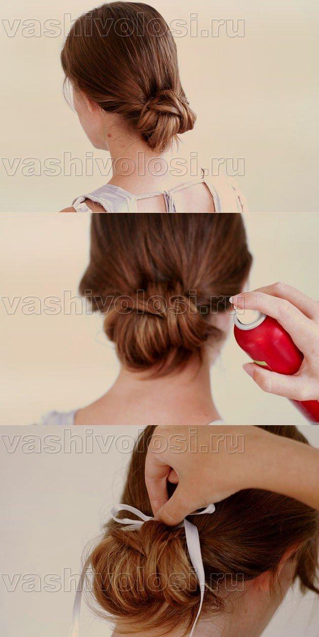Как сделать пучок из волос