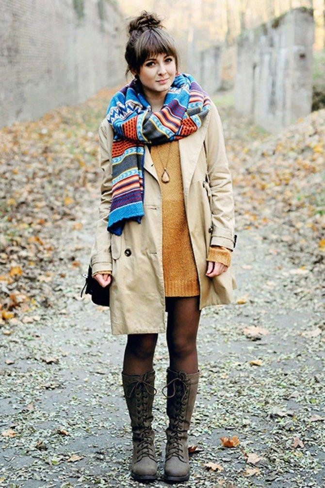 Как завязать шарф на пальто?