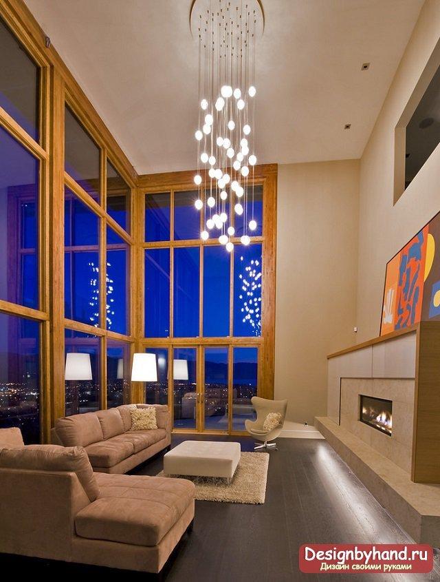 Камины в интерьере гостиной: фото