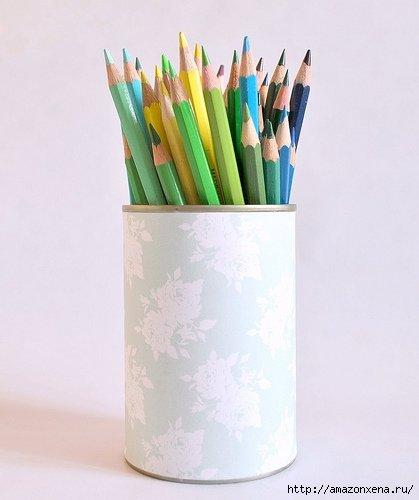 карандашница из железной банки (7)