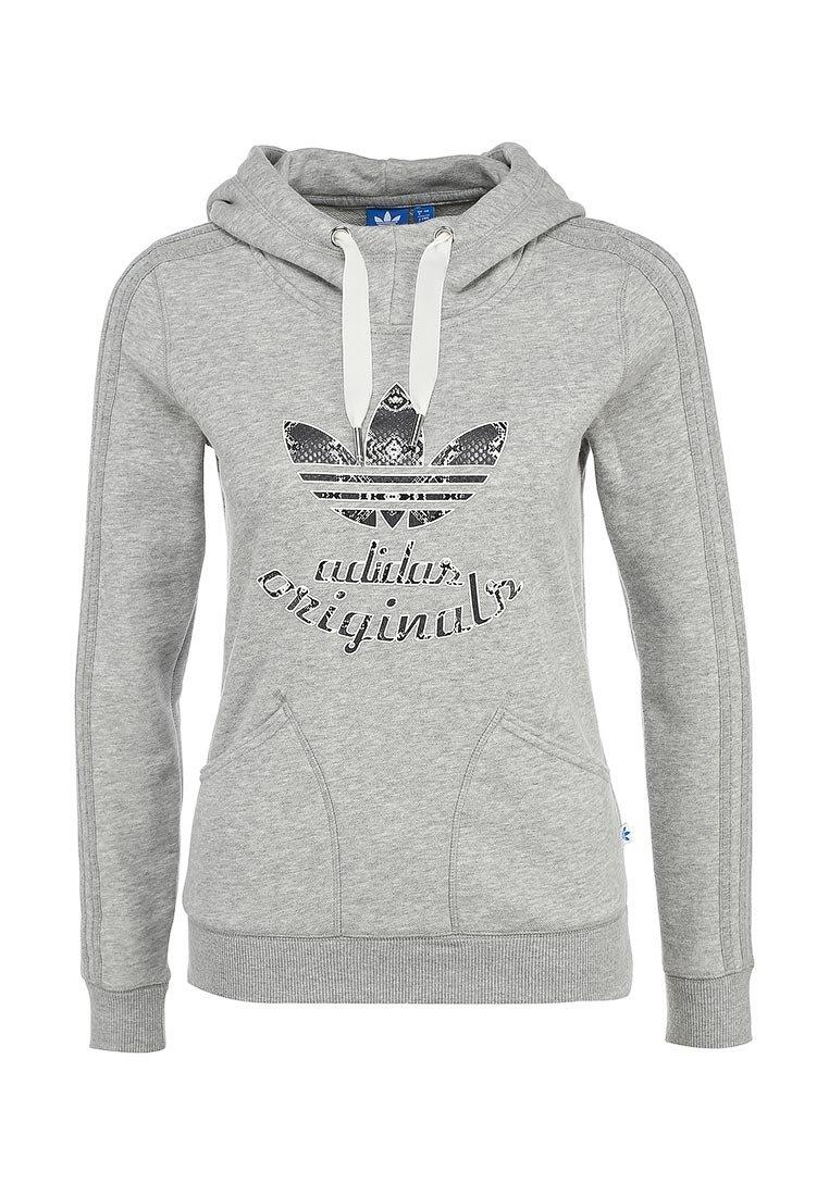 Худи adidas Originals LA SLIM HOODY купить за 4 399руб AD093EWFSZ00 в интернет-магазине Lamoda.ru