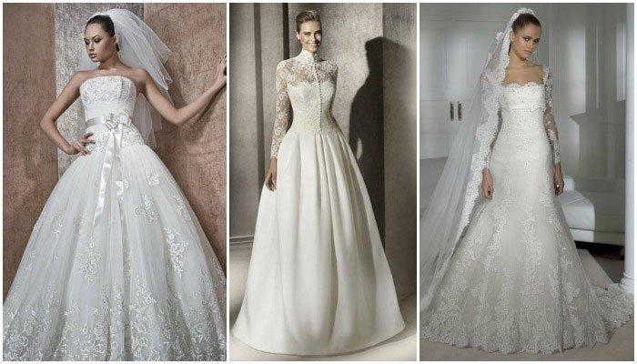 Классическое платье белого цвета