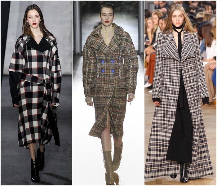 Клетчатые пальто осень-зима 2015-2016-1