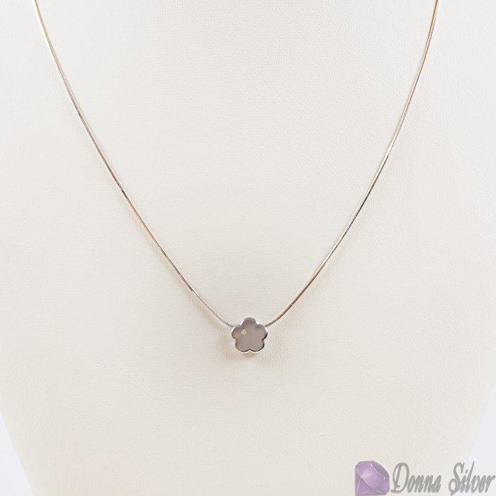 Колье с бриллиантом из серебра купить, купить серебряное колье с бриллиантом