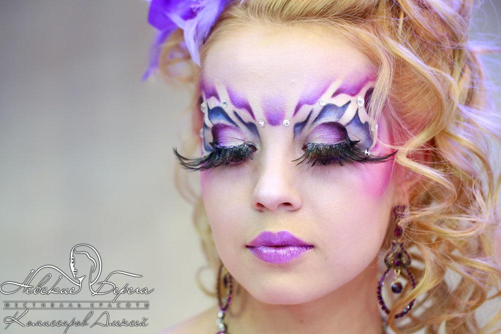 фантазийный макияж фото пошагово программа включает себя