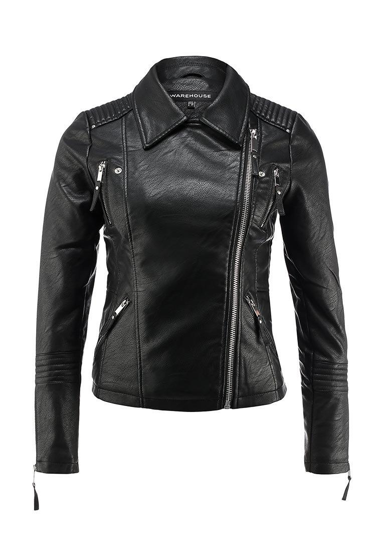 Куртка кожаная Warehouse купить за 6 290руб WA009EWGWA50 в интернет-магазине Lamoda.ru