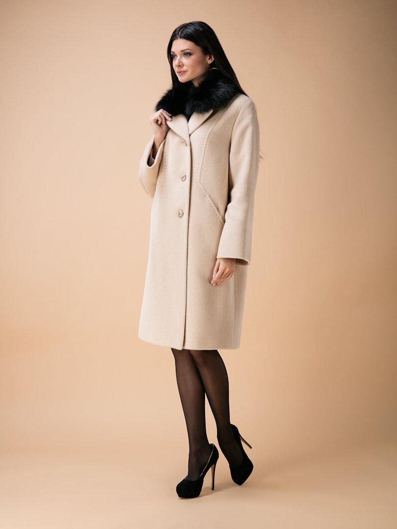Пальто утепл. КМ340 Z P бежевый.Магазин женской одежды:пальто,плащи.