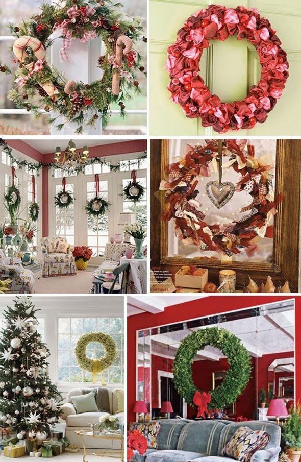 рождественский венок из ягод и фруктов