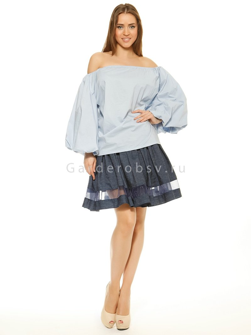 Рубашка VALENTINO, цвет голубой, цена 3800р - интернет-магазин одежды