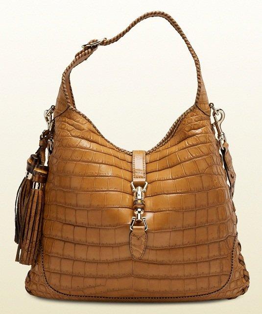 самые дорогие женские сумкив мире: Jackie Crocodile Shoulder Bag