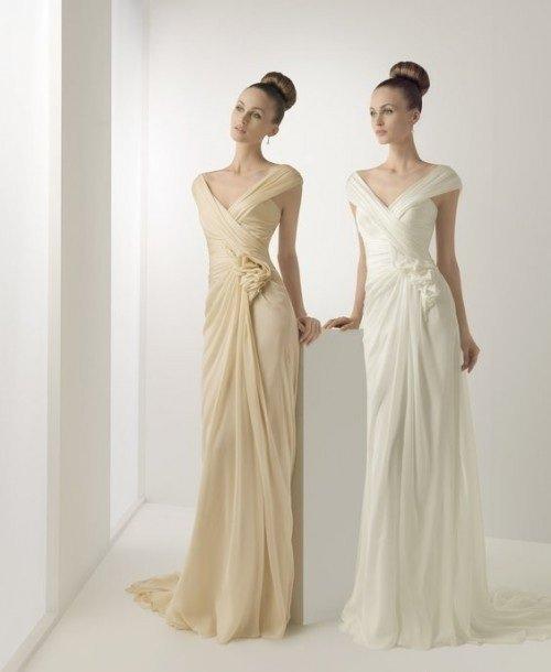 самые красивые свадебные платья в греческом стиле 2012 фото