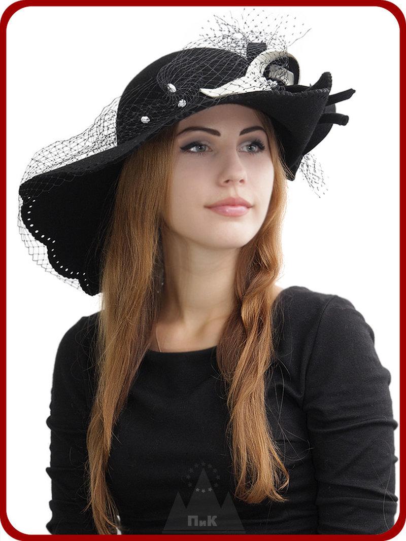 Шляпа Тифани - Женские шапки - Шляпки из фетра