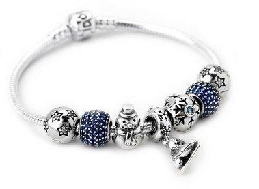 симметричный браслет Пандора на новогоднюю тематику