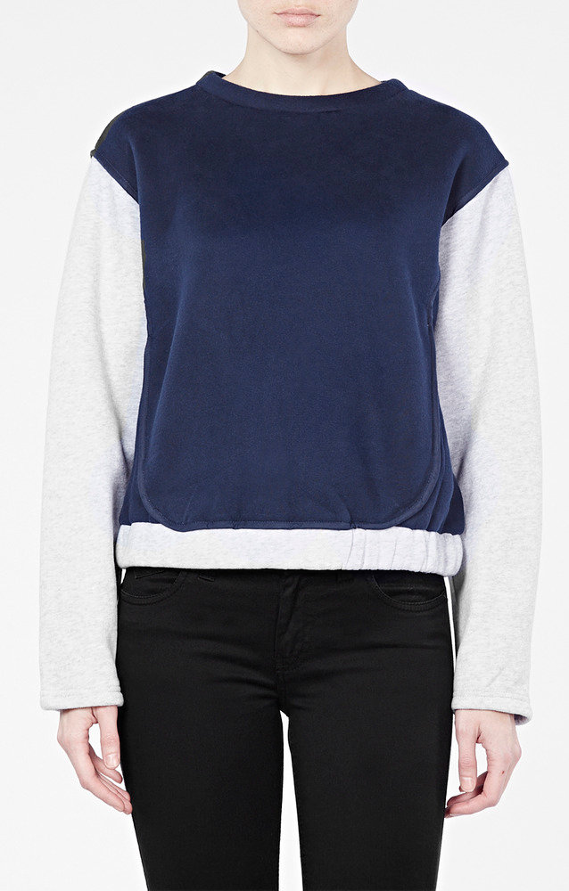 Синий свитшот  - заказать через интернет от креативного молодежного бренда Trends Brands на сайте TrendsBrands.ru!