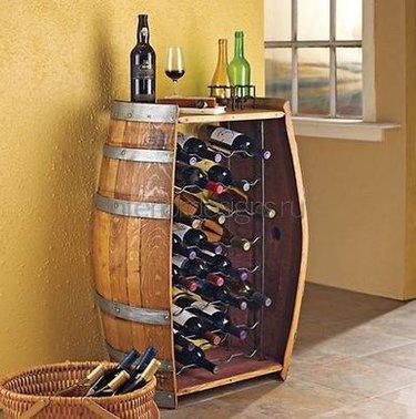 подставка под вино бочка