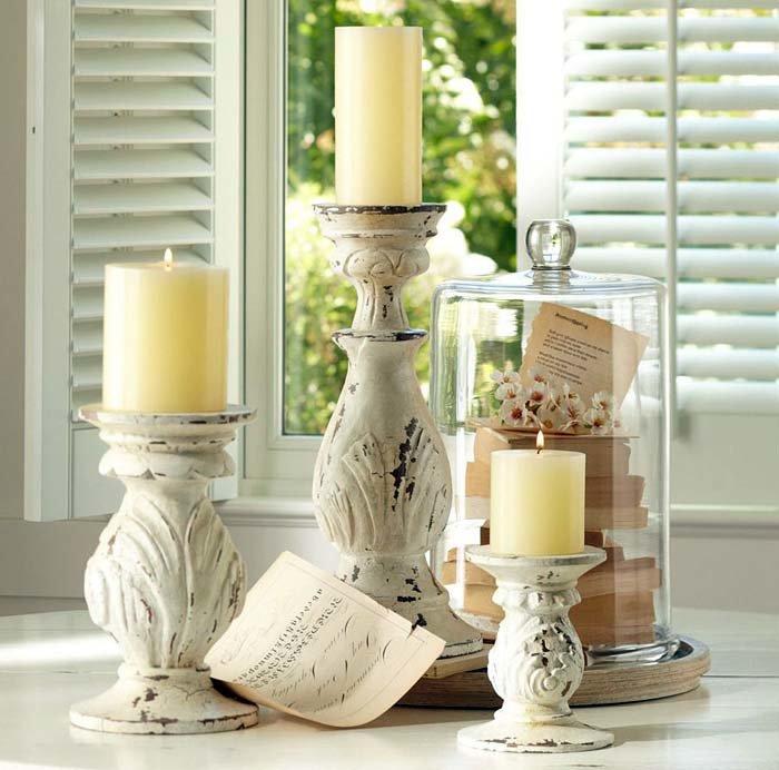 Свечи в интерьере: фото, рекомендации по размещению