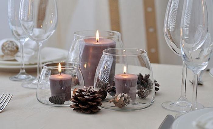 Свечи в стаканах, фото