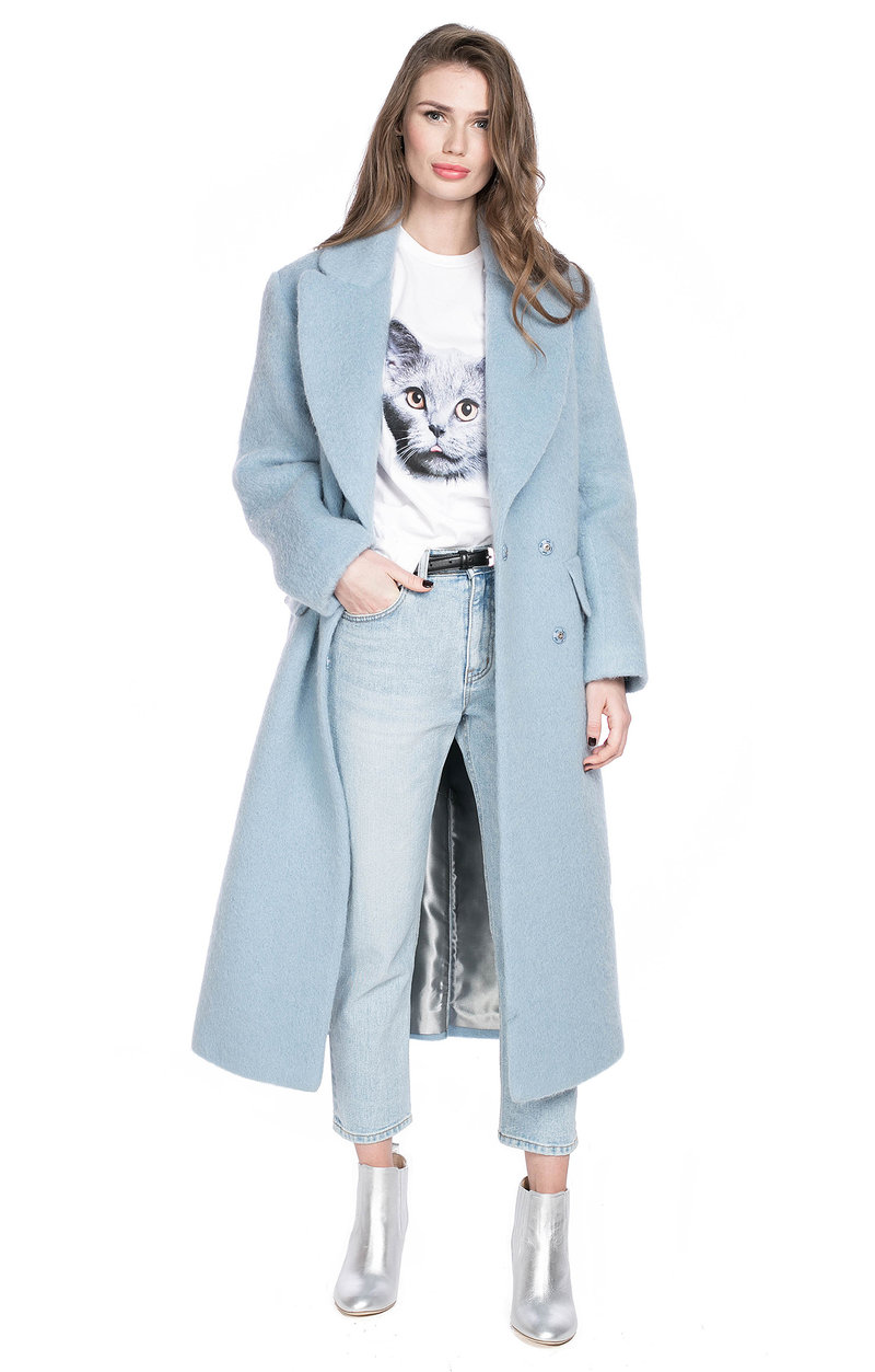 Удлиненное пальто с широкими лацканами I AM Studio в интернет-магазине женской обуви и аксессуаров TopTop.ru