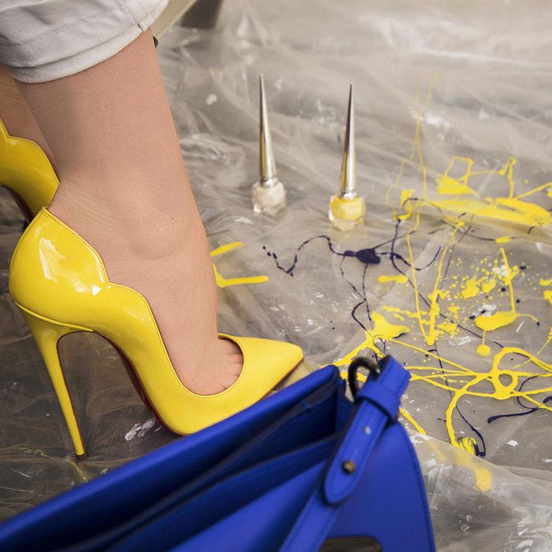 Желтые туфли-лодочки Christian Louboutin