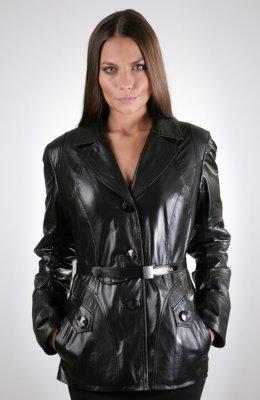 Женская кожаная куртка КЖ-344