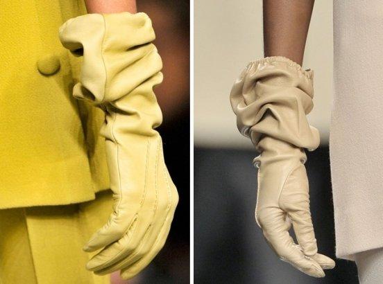 Женские кожаные перчатки / фото 2015