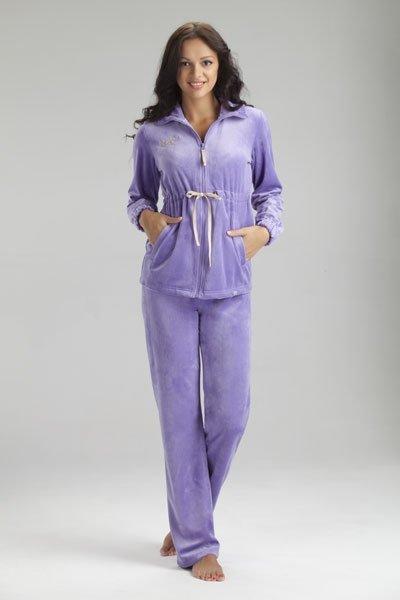 Женский велюровый костюм NicClub FRESCA E091201 (фиолетовый)