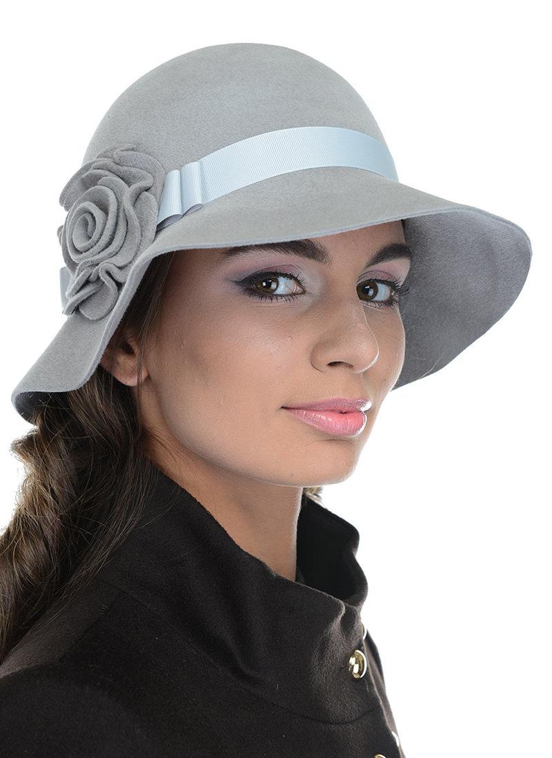 Женской головной убор Головной убор Шляпа из велюра 03 V-171/2цвет Серый светлый за 2950 руб.