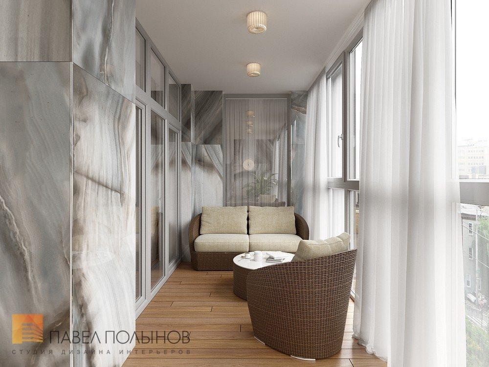 """Лоджия в проекте """"дизайн интерьера четырехкомнатной квартиры."""