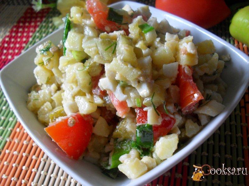 Быстрый салат с картофелем