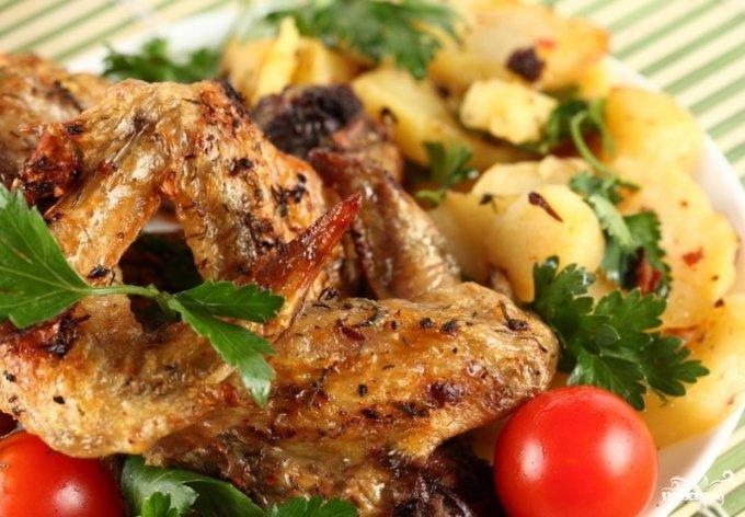 запеченные куриные крылышки в духовке фото рецепт