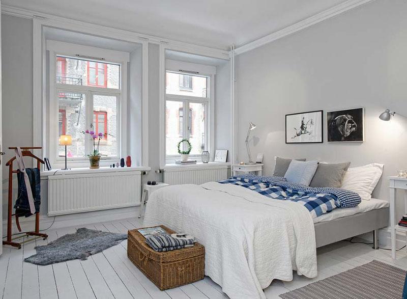 бело синяя скандинавская спальня карточка пользователя Olga