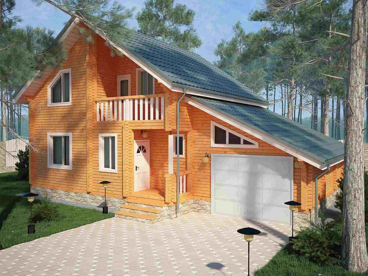 проекты домов гаражом фото