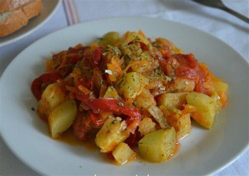 Овощное рагу кабачки баклажаны картофель быстро и просто